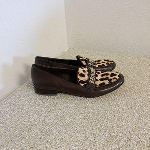 Tory Burch Brown Calfhair Gemini Links Shoes